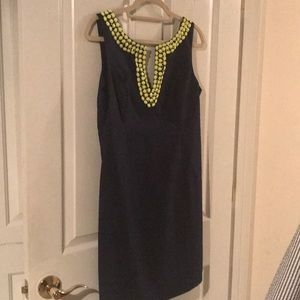 Navy shift dress
